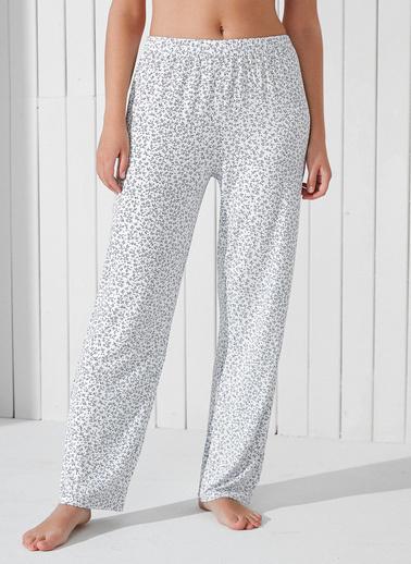 Penti Optik Beyaz Tile Flowers Pantolon Beyaz